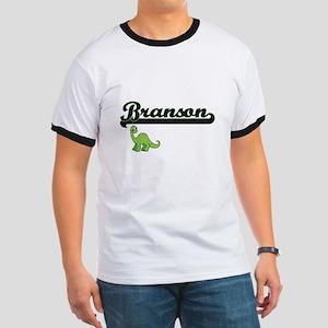 Branson Classic Name Design with Dinosaur T-Shirt