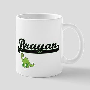 Brayan Classic Name Design with Dinosaur Mugs