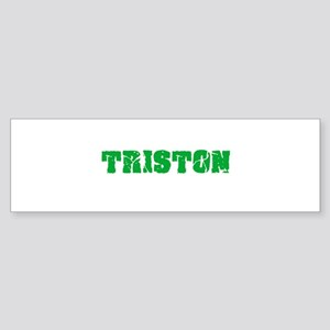 Triston Name Weathered Green Design Bumper Sticker
