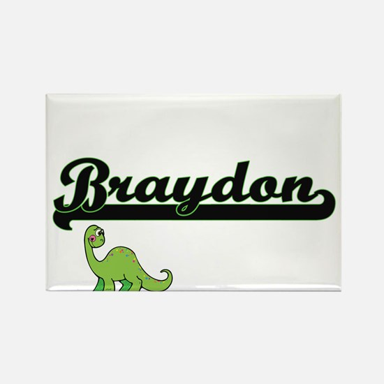 Braydon Classic Name Design with Dinosaur Magnets