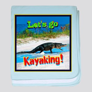 Lets Go Kayaking! baby blanket
