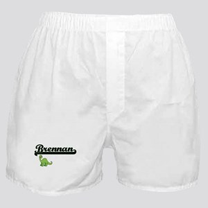 Brennan Classic Name Design with Dino Boxer Shorts