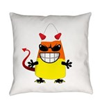 Evil Candy Corn Everyday Pillow