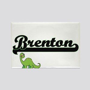 Brenton Classic Name Design with Dinosaur Magnets
