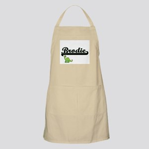 Brodie Classic Name Design with Dinosaur Apron