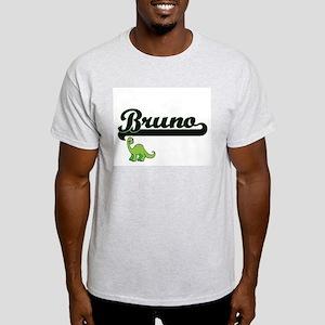 Bruno Classic Name Design with Dinosaur T-Shirt