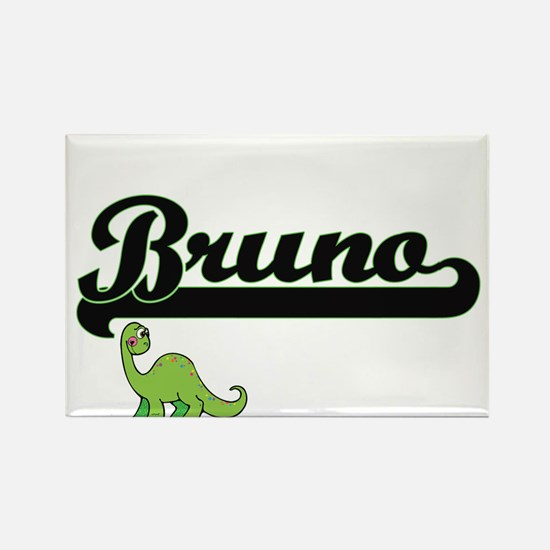 Bruno Classic Name Design with Dinosaur Magnets