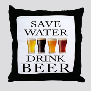Save Water Drink Beer Throw Pillow