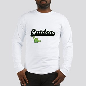 Caiden Classic Name Design wit Long Sleeve T-Shirt