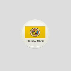 Honolulu HA Flag Mini Button