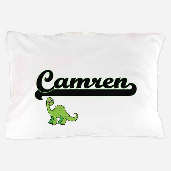 Camren Classic Name Design with Dinosa Pillow Case