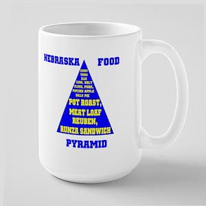 Nebraska Food Pyramid Large Mug
