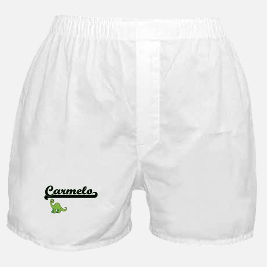 Carmelo Classic Name Design with Dino Boxer Shorts