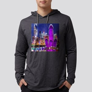 Giant Purple Mushroom Sculpture Mens Hooded Shirt