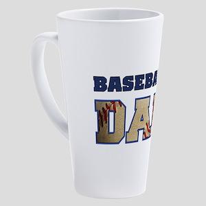 baseball dad 17 oz Latte Mug