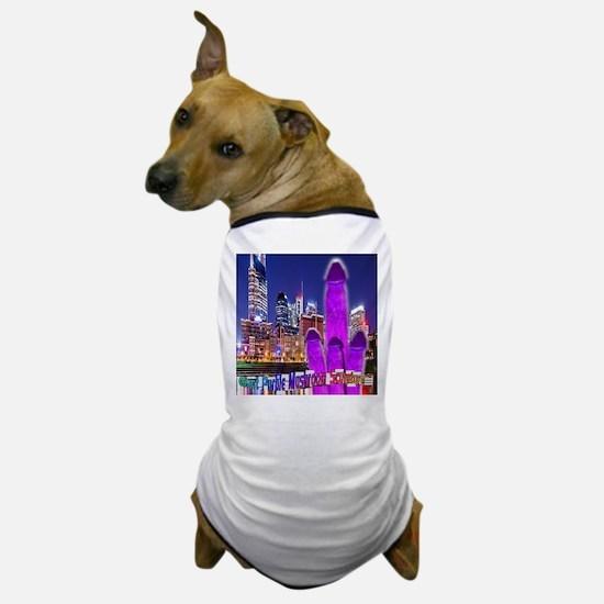 Giant Purple Mushroom Sculpture Dog T-Shirt