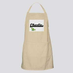 Charlie Classic Name Design with Dinosaur Apron