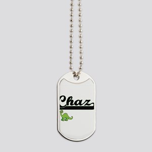 Chaz Classic Name Design with Dinosaur Dog Tags
