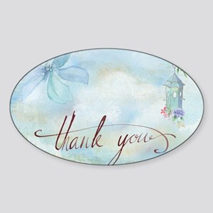 thank you Sticker (Oval)