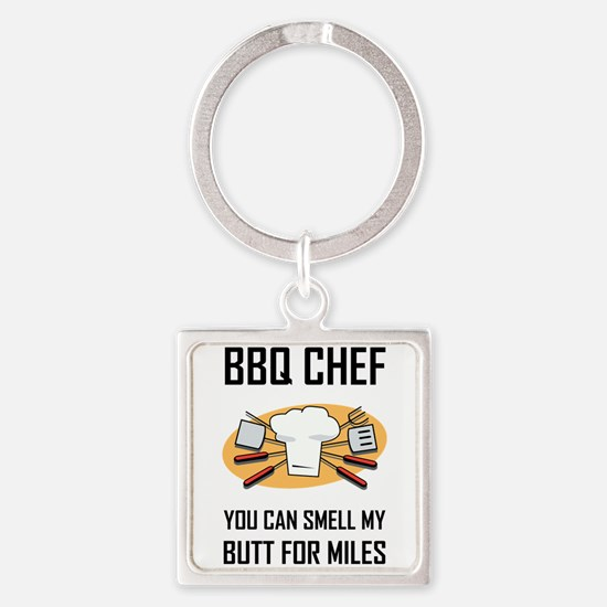 BBQ Chef Smell Butts Keychains