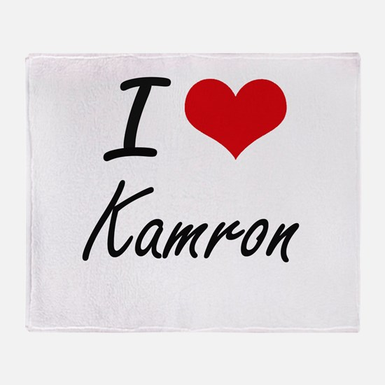 I Love Kamron Throw Blanket