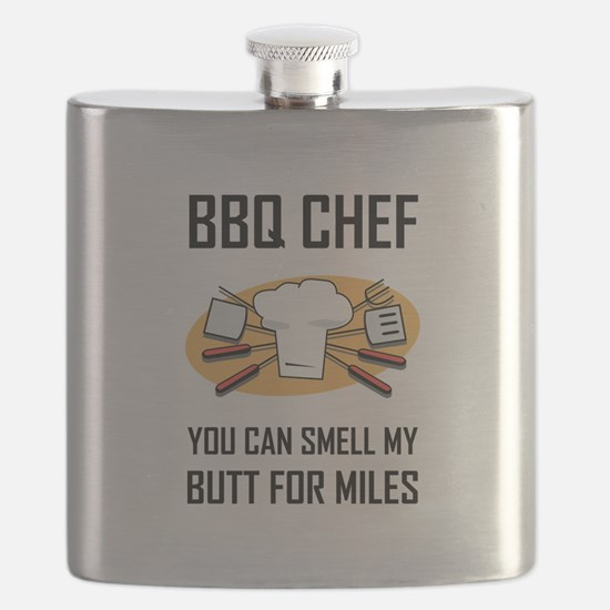 BBQ Chef Smell Butts Flask