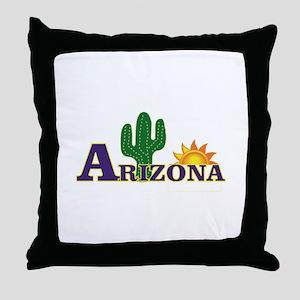 blue Arizona sky Throw Pillow