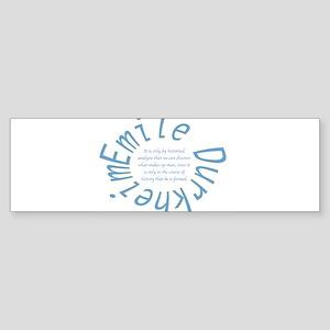 Sociology: Durkheim Quote Bumper Sticker
