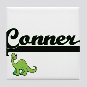 Conner Classic Name Design with Dinos Tile Coaster