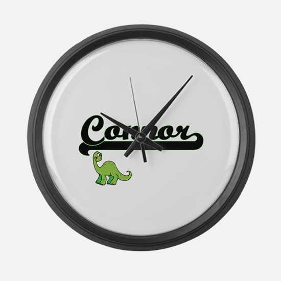 Connor Classic Name Design with D Large Wall Clock
