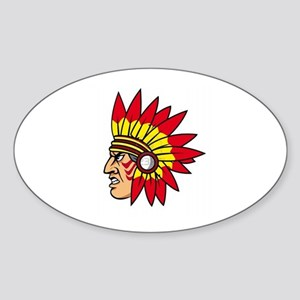 INDIAN NAME Oval Sticker