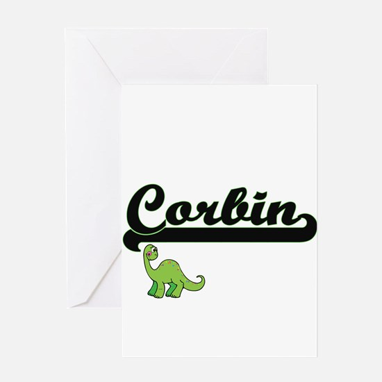 Corbin Classic Name Design with Din Greeting Cards