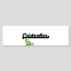 Cristopher Classic Name Design with Bumper Sticker