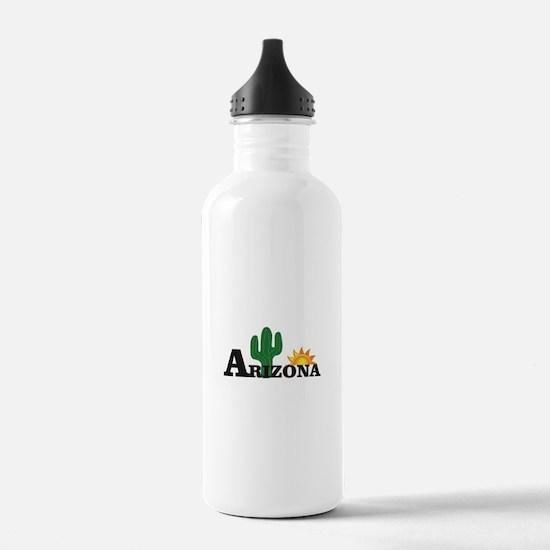 dark cactus arizona Water Bottle