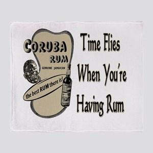 Rum Drinking Shirts and Gifts Throw Blanket