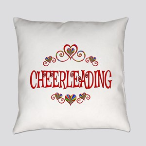 Cheerleading Hearts Everyday Pillow
