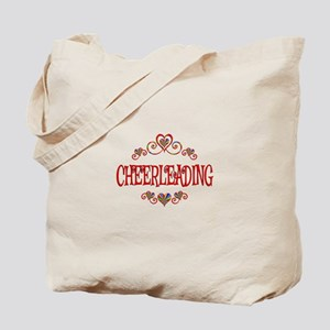 Cheerleading Hearts Tote Bag