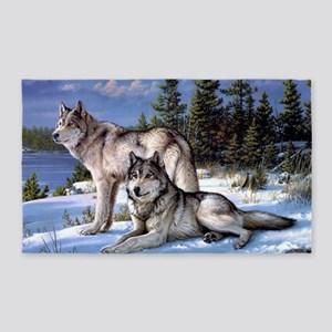 Wolves Area Rug