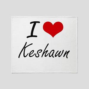 I Love Keshawn Throw Blanket