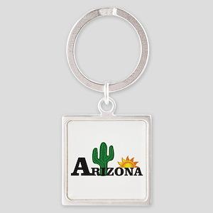 dark cactus arizona Keychains