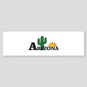 dark cactus arizona Bumper Sticker