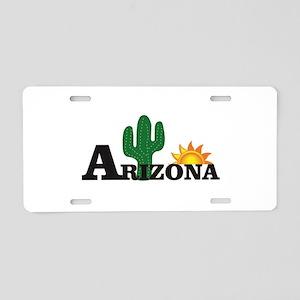 dark cactus arizona Aluminum License Plate