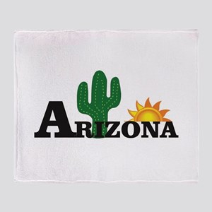 dark cactus arizona Throw Blanket