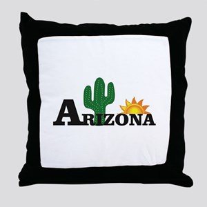 dark cactus arizona Throw Pillow