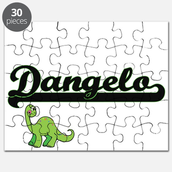 Dangelo Classic Name Design with Dinosaur Puzzle