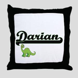 Darian Classic Name Design with Dinos Throw Pillow