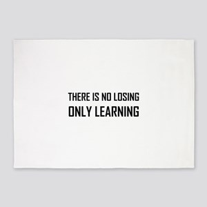 No Losing Only Learning Motto 5'x7'Area Rug