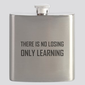 No Losing Only Learning Motto Flask