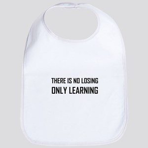 No Losing Only Learning Motto Baby Bib