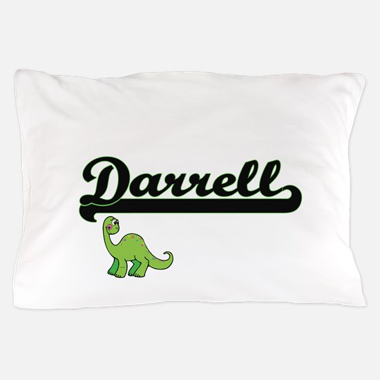 Darrell Classic Name Design with Dinos Pillow Case